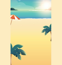 Background for summer beach vacation vector