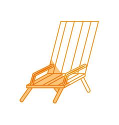 Beach chair isolated vector