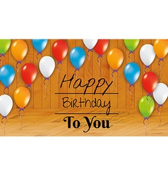 Birthday card happy birthday room vector