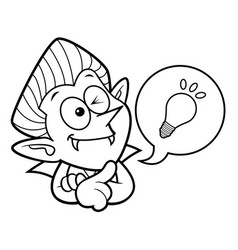 Black and white dracula mascot is a great idea vector