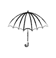 Blurred thick silhouette of opened stripe umbrella vector