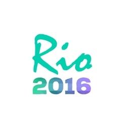 Brazil Summer 2016 Rio de Janeiro banner vector image