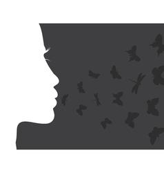 Breath butterfly vector