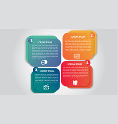 business infographics 4 steps options design vector image