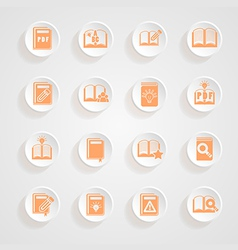 button shadows Book icons vector image