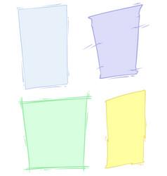 cartoon colored background frames set vector image