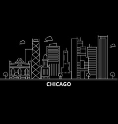 chicago city silhouette skyline usa - chicago vector image