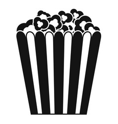 Cinema popcorn box icon simple style vector