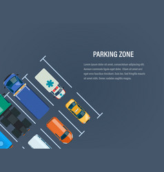 city car parking zone top view of parking lot vector image