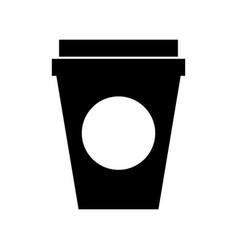 Coffee plastic cup icon vector