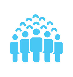 crowd of people icon silhouettes social icon vector image