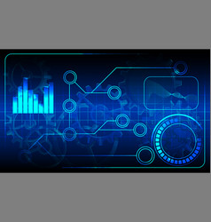 diagram technology background vector image