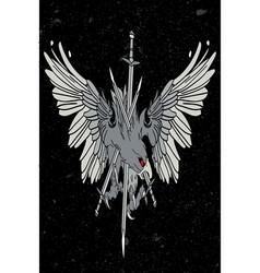 eagle medieval vector image