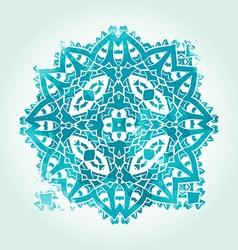Ethnic Psychodelic Fractal Mandala Meditation vector