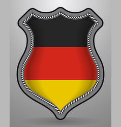 flag of germany badge and icon vector image