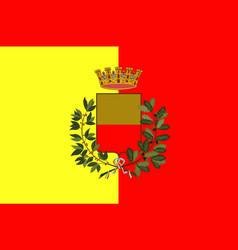 Flag of naples of campania italy vector