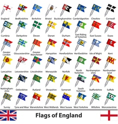 Flags of England vector