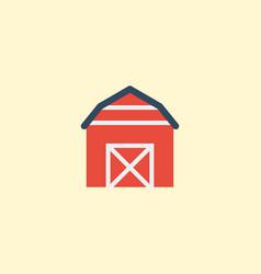 Flat icon barn element of vector