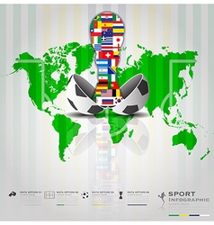 Football Tournament Sport Infographic Background vector image