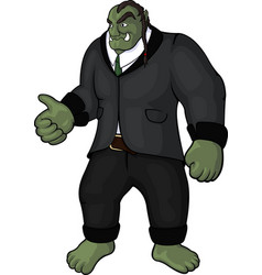 Funny orc businessman vector