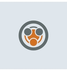 Gray-orange Infection Round Icon vector