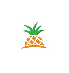 half pineapple pineapple ananas fresh fruit for vector image