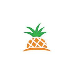 half pineapple pineapple ananas fresh fruit vector image