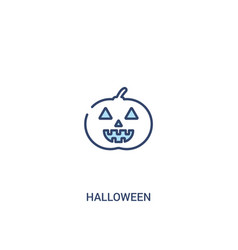 Halloween concept 2 colored icon simple line vector