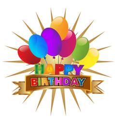 happy birthday party invitation icon vector image