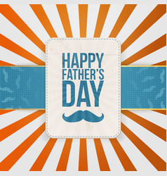 Happy Fathers Day striped Background vector