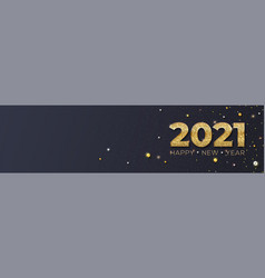 happy new year 2021 glittering golden dust vector image