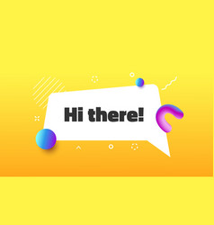 hi there funny speech bubble message in memphis vector image