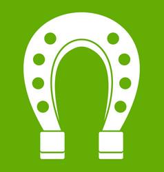 horse shoe icon green vector image