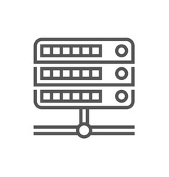 hosting data server icon for web and mobile vector image