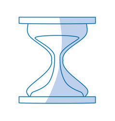 Hourglass sand timer vector