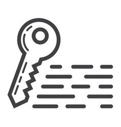 keywords line icon seo and development vector image