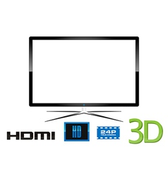 LED Television - Design vector