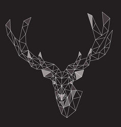 low poly polygonal deer vector image