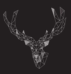Low poly polygonal deer vector