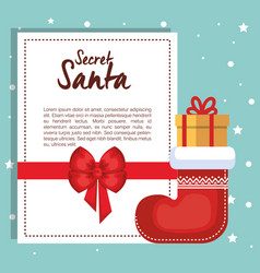 merry christmas gift card vector image