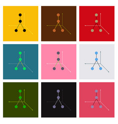 Minimalistic graphics with broken lines vector