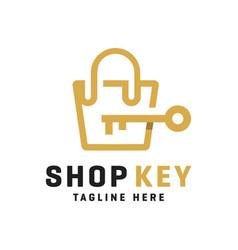 modern lock shop logo vector image