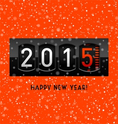New Year 2015 counter vector image