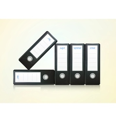 office folders binder vector image