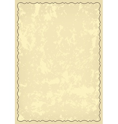old grungy card with decorative frame vector image