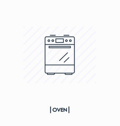oven outline icon isolated vector image