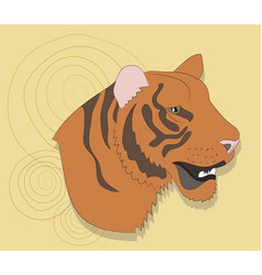 portrait of a tiger on a background vector image