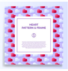 poster banner or card frame border with love vector image