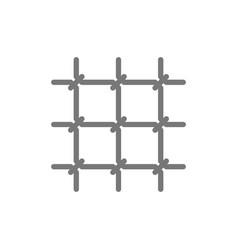 prison lattice line icon vector image