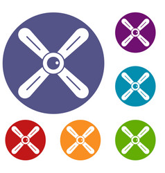 Propeller icons set vector